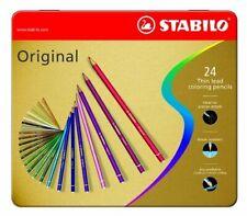 [Ref:8774-6] STABILO Boite métal 24 Crayon de couleur ORIGINAL mine fine partie