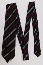 Striped St Michael tie vintage 1970s black red white Marks & Spencers M&S TATTY