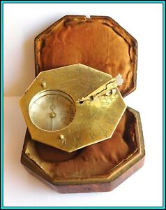 Universal Portable BUTTERFIELD SUNDIAL & COMPASS by NICOLAS BION - France 1700's
