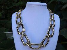 """Vintage 18"""" Large Gold Buckle Necklace"""