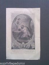 Image pieuse ancienne, Coeur Agonisant de Jésus, assistance des mourants, 1907