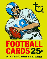 1971 Topps NFL Player Card Poster, 8x10 Color Photo