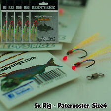 5 fishing rigs Paternoster bream Lure Flathead Surf Rig Size 4 Yabby Lumo