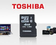 Toshiba Flash-Speicher 4 GB Micro SD-Karte TF SDHC 4G TF-Karte C4 Klasse 4 Card