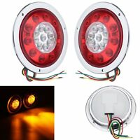 12V/24V Truck Trailer LED Arrière Feux Rond Freinage Lorry Tail Light Indicateur