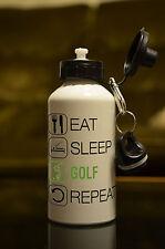 Golfista Regalo EAT SLEEP GOLF Bottiglia D'acqua Accessorio Sportivo Regalo Di Compleanno bianco