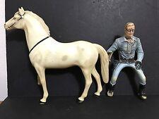 Vintage Lone Ranger & Silver Heartland Plastic Figures 1950's Vintage Item