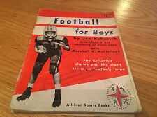 Vintage All-Star Sports Books Football For Boys (Joe Kuharich, 1960, Paperback)