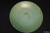 Murano Italian Art Glass Plate or Bowl - Large Size - Geometric Patchwork Design