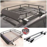 Lockable Aluminium Roof Rail Bars & Car Rack Tray to fit Toyota Hilux SW4 06-15