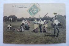 CPA -58 - LA VIE AU CHAMPS-Une bande Joyeuse. 1906  Réf E /07