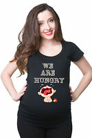 We are Hungry Funny Pregnancy T-shirt Gift for future mommy Maternity Tee