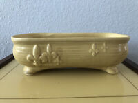 Vintage McCoy Fleur De Les Ceramic Yellow Flower Planter- MCM