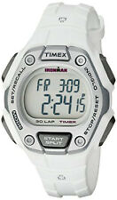 Timex Women's Ironman 100m 30 Lap Digital  White Tone Resin Watch TW5K89400