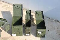 2 X Bundeswehr Kiste U.S. Munitionskiste Metall Transportkiste mit dichtung Gr.2