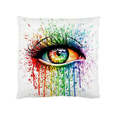 Popart Rainbow Colorful Eye Fashion Pop Art Cushion Pillow Case Cover Square