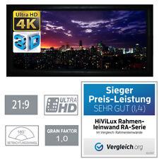 """HiViLux 3D/4K/UHD ALU Rahmen Leinwand 21:9/138""""/323x137cm/5J.Garantie/Schienen/A"""