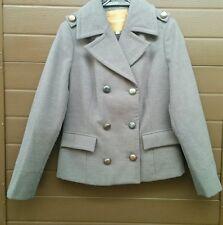 Cappotto cappottino giaccone doppiopetto bottoni grigio topo Conbipel taglia 42