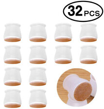 32pcs Silicone Chair Leg Caps Feet Cover Pads Furniture Table Floor Protectors