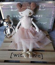 Doudou peluche poupée chiffon robe étoile doré Tao Dream 35 cm Tape à l'œil