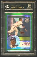 RONALD ACUNA 2018 Topps 1983 Green Refractor Rookie 92/99 BGS 10 PRISTINE BLACK