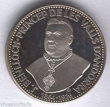 Andorra 50 Diners 1963 plata Obispo J. Benlloch PRROF