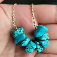 Natural Turquoise Necklace 18 inches Gemstone Jewelry Clasp Classic