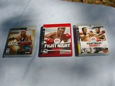 ~~ Playstation 3  FIGHT NIGHT ROUND 3 & 4~~ UFC 2010 Boxing Sport Games ~~