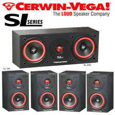 Cerwin Vega SL Bundle Surround Sound Home Theater Speakers Set SL-5M SL-25C New