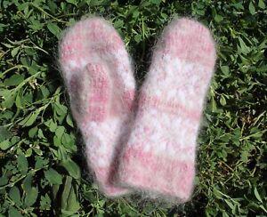 NEW Kids winter mittens homemade knitted goat down Fetish angora  warm