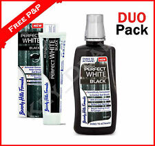 Beverly Hills Whitening Fluoride Toothpaste & Mouthwash with Activated Charcoal