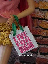 """Model Muse Juicy Couture """"LIVE FOR SUGAR"""" Shopping Bag Accessory"""