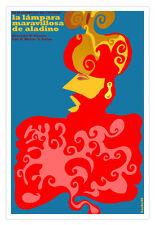 """Cuban movie Poster 4 film""""Aladdin Magical LAMP""""Children.Aladino y la Lampara"""