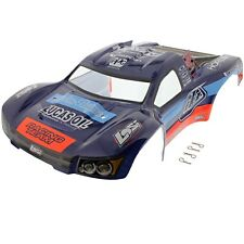 Losi 1/10 TEN-SCTE 4WD * TROY LEE DESIGNS BLACK, BLUE & ORANGE BODY & CLIPS *
