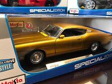 EXCLUSIVE Maisto 1:18 Scale Diecast Model - 1969 Ford Torino Talladega (Gold)