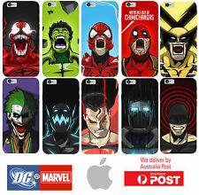 iPhone Silicone Cover Case Marvel DC Avengers Villains Heroes - Coverlads