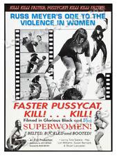 FASTER PUSSYCAT KILL KILL LOBBY CARD POSTER OS-B 1995-R RUSS MEYERS TURA SATANA