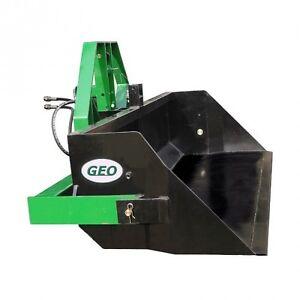 Geo PRI 140 Hecklader Erdschaufel Heckcontainer hydraulisch kippb. Schaufel BBS