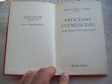 """1958 ALESSANDRO DUMAS figlio: """"PROCESSO CLEMECEAU. MEMORIALE DELL'IMPUTATO"""". BUR"""