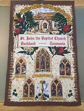 St. John the Baptist Church, Buckland Tasmania Souvenir Linen Cotton