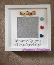 Daddy Daughter Picture Frame Fathers Day Birthday Gift