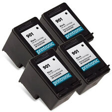 Ink Cartridge for HP OfficeJet J4524 J4624 4500 - HP 901 Black CC653AN 4 Pack