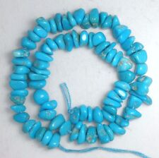"Sleeping Beauty Turquoise Gemstone 4 to 8mm Loose Ctaft Chip Beads Blue 9"" # 193"