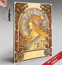 Alphonse Mucha ZODIAC Poster Fine Art Nouveau Vintage A4 Glossy Print * Mounted
