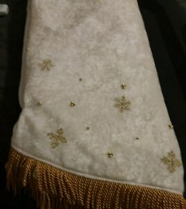Vintagr Luxury Yuletide Treeskirt Jcpenney Home Collection Angelc Gld