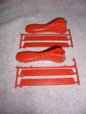 McDonalds Ronald Shoe Ruler Foot Toy Unpnchd Vtg Red HTF 1981 Happy Meal lot 2