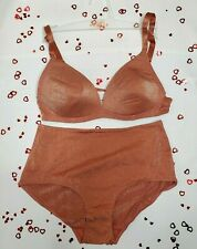 Simone Perele Sunset Sparkly Bralette (34B) & Matching Shorty - New W/out Tags