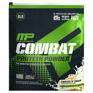 MusclePharm Combat Protein Powder Cookies & Cream Flavor 6 lbs ( Pack of 3 )