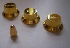 GOLD KNOBS & Switch Tip for FENDER STRATOCASTER Fits USA & Import Strat Guitars