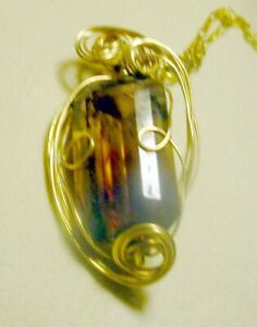 Ametrine Stone Set in Gold Filled Wire Sculpture